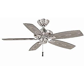Hampton Bay 42 In. Gazebo II Outdoor Fan - Brushed Nickel Finish YG187-BN