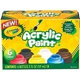 Bulk Buy: Crayola (2-Pack) Acrylic Paint Set 2oz 6/Pkg 20-1997