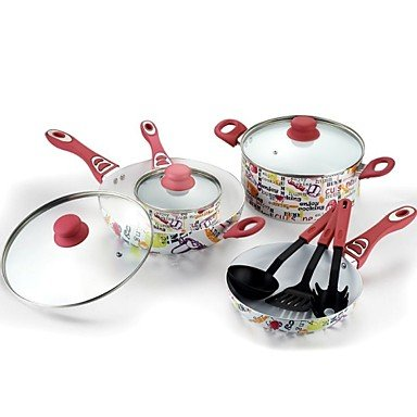 European Decals Non-Stick Cookware Set Aluminum 25″*13.8″*7.7″
