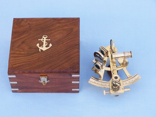 "Scout'S Brass Sextant 4"" Antique Sextant Navigation Sextant Nautical Decoration - Brand New"