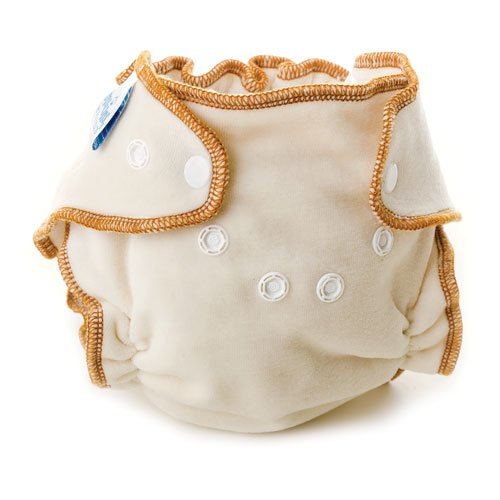 Bumkins Fitted Diapers, Natural, Large