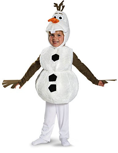 Disguise Baby's Disney Frozen Olaf Deluxe Toddler Costume,White,Toddler L (4-6)