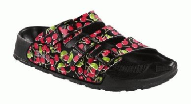 Birkis Sandals Cuba From Birko-Flor In Black Cherry With A Narrow Insole Size 40.0 N Eu front-665246