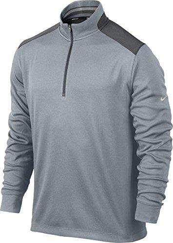 Nike Golf Dri-Fit Performance 1/2-Zip LT MAGNET GREY/DARK GREY/METALLIC SILVER S