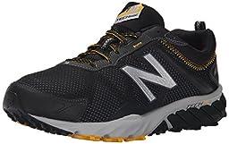 New Balance Men\'s MT610V5 Trail Shoe, Black/Gold Rush, 9.5 D US