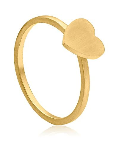 steel art Ring Anima vergoldet