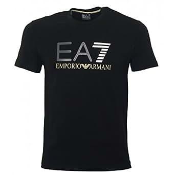 Tee-shirts ARMANI JEANS pour Mode homme, Modèle 3P206 noir/7 blanc Train graphic ea7