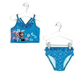Disney - Anna and Elsa Swimsuit for Girls - Frozen - Size 7/8 - Pink