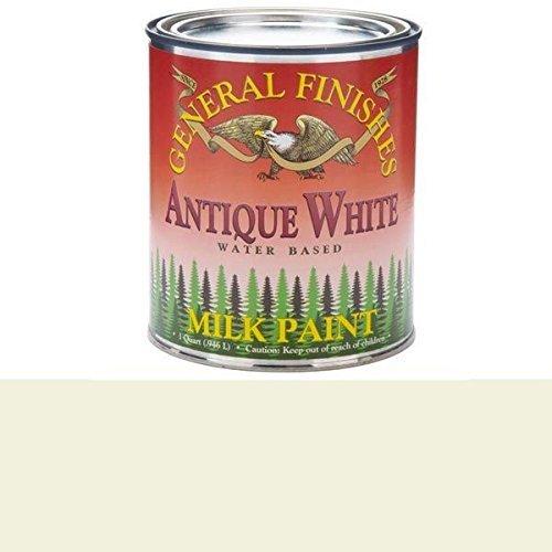 General Finishes QAW Milk Paint, 1 quart, Antique White (Milk Cans Antique compare prices)
