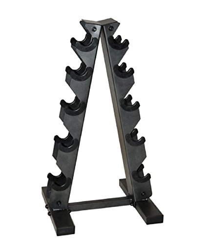 CAP Barbell Black A Frame Dumbbell Rack, New!!! (Cap Barbell Weighted Workout Bar compare prices)