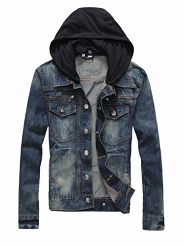 Prime Men's Denim Jacket Slim Fit Casual Jacket DJBH-01 (DJBH, XXL)