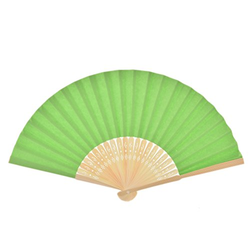 1pcs Chinese Paper Folding Fan Handheld Fan Wedding Party Favor Green