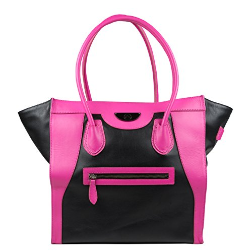 6-pack-fitness-victoria-elite-leather-tote-with-insulated-meal-management-system-black-pink