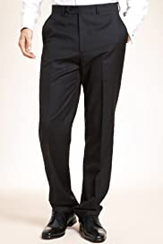 Collezione Wool Rich Flat Front Trousers with Cashmere [T15-6126C-S]