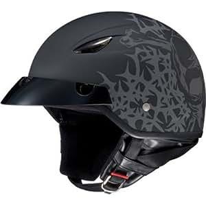 HJC Skull & Thorns CL-21M Half (1/2) Shell Motorcycle Helmet - M5F / X-Small