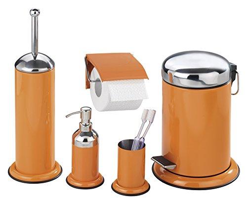 Wenko 17904100 pattumiera da bagno a pedale retoro arancio - Wenko accessori bagno ...