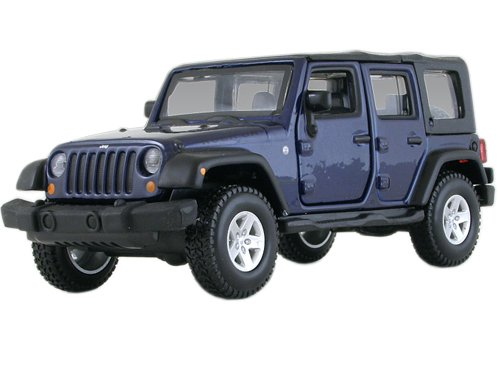 Jeep Wrangler Unlimited Rubicon 4 Doors Blue 1/32 By Bburago 43012