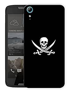 "Humor Gang Pirates Skull Printed Designer Mobile Back Cover For ""HTC DESIRE 828"" (3D, Matte, Premium Quality Snap On Case)"