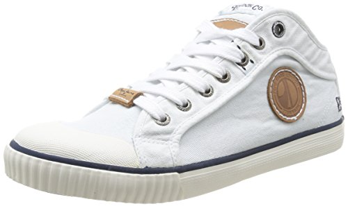 Pepe Jeans Industry Indigo, Herren Sneaker  Weiß Blanc (800) 41