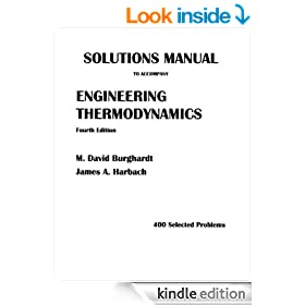 Solutions Manual to Accompany Engineering Thermodynamics, 4th edition, 400 Selected Problems