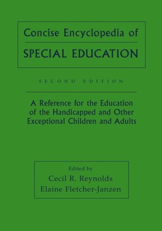 Concise Encyclopedia of Special Education: A