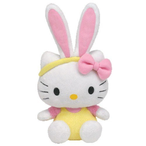 Ty Beanie Baby Hello Kitty - Yellow Jumper with Bunny Ears - 1