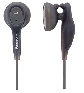 Panasonic RPHV21BK In-Ear Earbud Heaphones with Built-in Clip (Black) (Discontinued by Manufacturer)