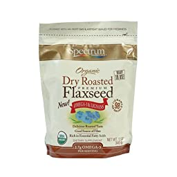 Spectrum Essentials Organic Dry Roasted Flaxseed 12 oz Pkg