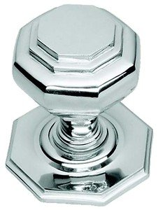 Polished Chrome Octagonal Centre Pull Door Knob / Handle (BC15A) from OriginalForgery