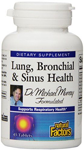 Natural Factors - Lung, Bronchial, & Sinus Health, All-Natural Formula, 45 Tablets