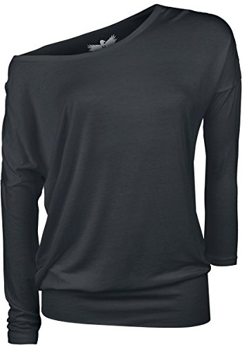 Black Premium by EMP Ladies Tee Manica lunga donna nero 5XL