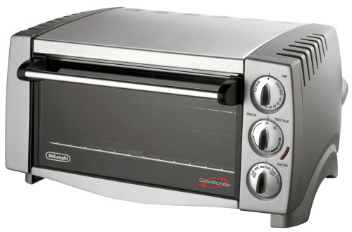Delonghi Eo1258 6-Slice 1/2-Cubic-Foot Turbo Convection Oven, Stainless Steel