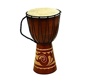 Wood And Leather Djembe Drum