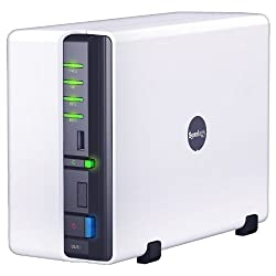 Synology DiskStation 2-Bay (Diskless) Network Attached Storage DS211 (White)