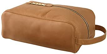 Mulholland Brothers Leather Collection Shoe Bag Tan