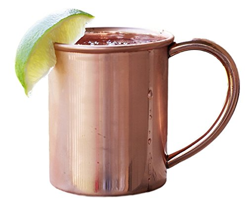 Copper Mug for Moscow Mules - 12 oz size (Round Rolling Beverage Cooler compare prices)