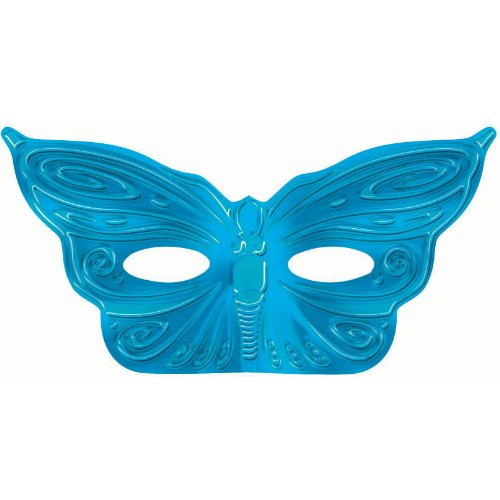 Turquoise Foil Butterfly Mask (1 pc)