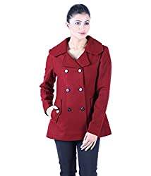 Owncraft Women's Maroon notched collar coat 2