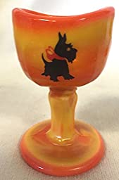 Eye Wash Cup - John Bull Sytle (Candy Corn w/Scottie Dog)
