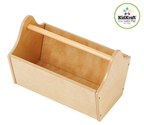 Cute Easy Carrying Toy Box Caddy In Natural Storage Bin Containers And Chest Organizer For Kids Pet Toys - Children Home Box Units Solutions front-1023249