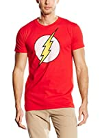 DC COMICS Camiseta Manga Corta Flash Distress (Rojo)