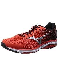 Mizuno Running Shoes Wave Rider 18 Orange / Silver / Black J1gc150307