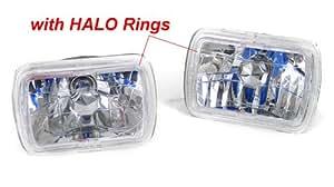 86-95 TOYOTA MR2 H6054 SEALED BEAM LED HALO HEADLIGHTS CONVERSION KIT