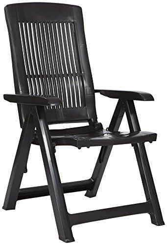 BEST Gartensessel »Kansas (2 Stück)« 2 Stühle, anthrazit