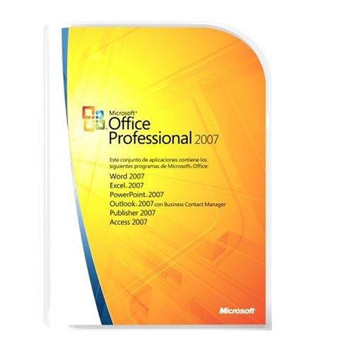 Microsoft Office Professional 2007 Win32 Spanish Upgrade
