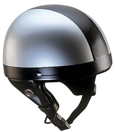 Nikko N10 Casque bol de moto taille S (Argent/noir)