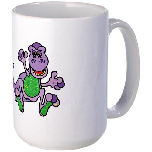Cafepress Cute Purple T-Rex Dinosaur Large Mug - Standard