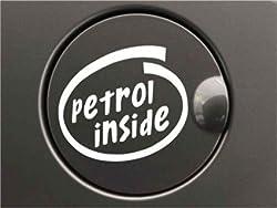 Delhi Traderss Reflective White Petrol Inside Decal / Sticker For Car Fuel Lid car sticker