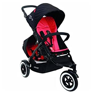 Phil And Teds Dot Stroller WITH Doubles Kit (Chilli)
