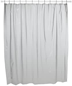 Croscill Vinyl Shower Curtain Liner, 70-inch by 72-inch, Clear